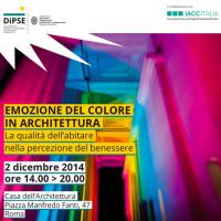 COLORE-CONVEGNI- architettura organica vivente, colore, emozione, benessere. 2014jpg